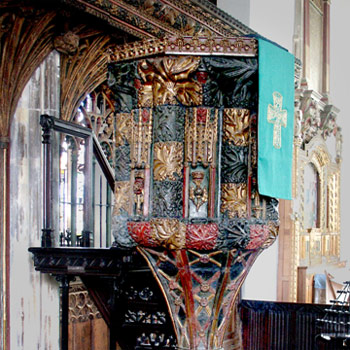 Pulpit at Dartmouth