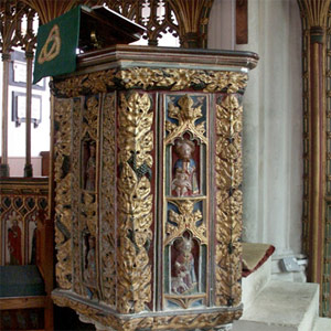 Pulpit at Bovey Tracey